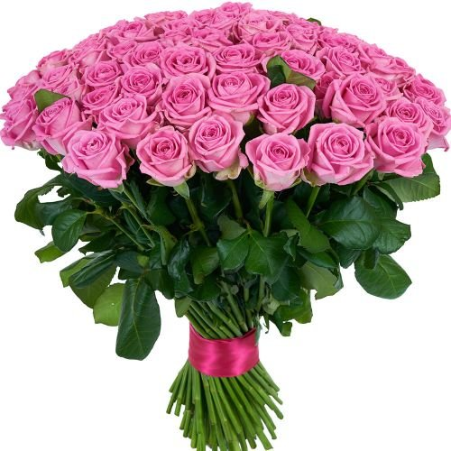 Купить на заказ Заказать Букет из 101 розовой розы с доставкой по Таразу  с доставкой в Таразе