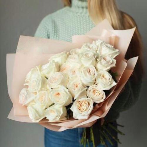 Купить на заказ Заказать Букет из 31 белой розы с доставкой по Таразу  с доставкой в Таразе