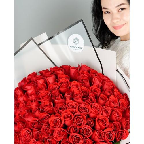 Купить на заказ Заказать Букет из 101 красной розы с доставкой по Таразу  с доставкой в Таразе