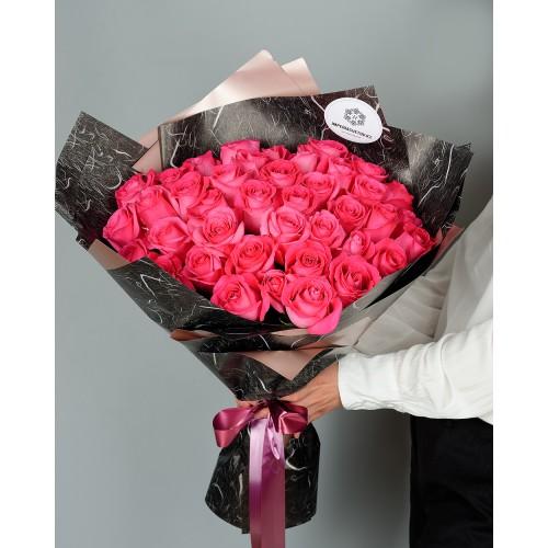 Купить на заказ Заказать Букет из 51 розовых роз с доставкой по Таразу  с доставкой в Таразе