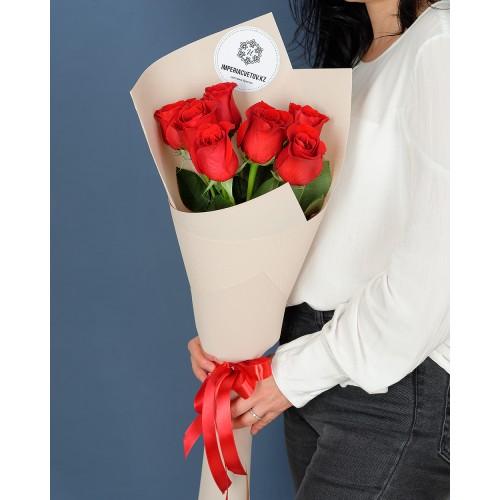 Купить на заказ Заказать Букет из 7 роз с доставкой по Таразу  с доставкой в Таразе