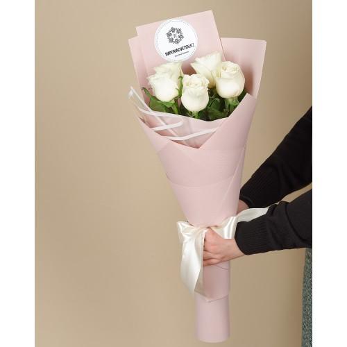 Купить на заказ Заказать Букет из 5 роз с доставкой по Таразу  с доставкой в Таразе