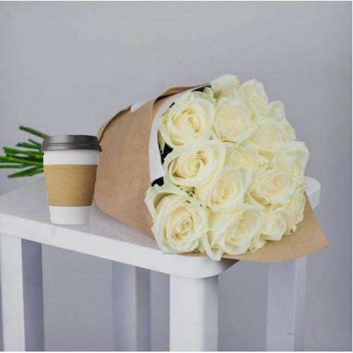 Купить на заказ Кофе с цветами с доставкой в Таразе