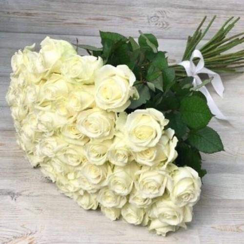 Купить на заказ Заказать Букет из 51 белой розы с доставкой по Таразу  с доставкой в Таразе