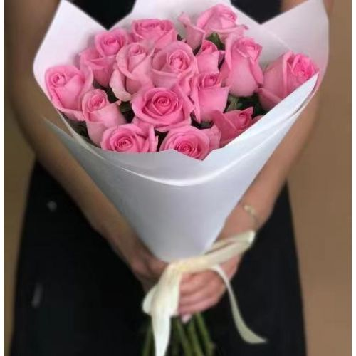 Купить на заказ Заказать 15 розовых роз с доставкой по Таразу  с доставкой в Таразе