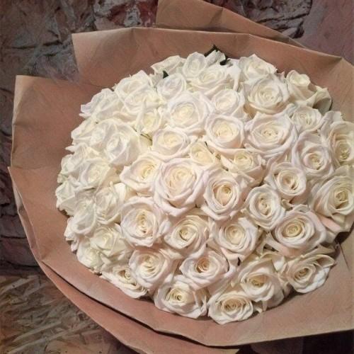 Купить на заказ Заказать Букет из 101 белой розы с доставкой по Таразу  с доставкой в Таразе